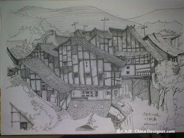 老房子线描_副本-傅枫嘉的设计师家园-黑色