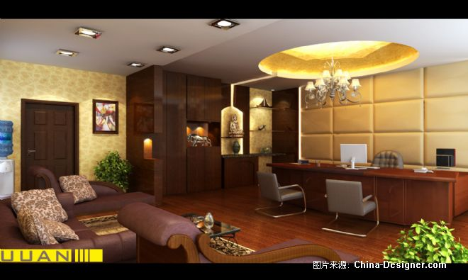 0总经理办公室副本 -吴红权的设计师家园-中式图片