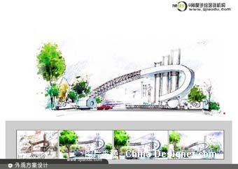 建筑景观手绘作品-0角度手绘的设计师家园-0角度手绘培训机构