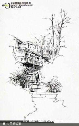 建筑景观手绘作品-0角度手绘的设计师家园:::陈立飞图片