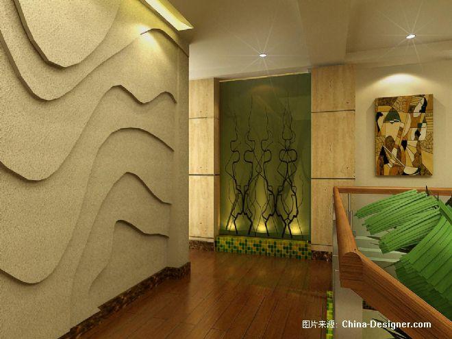 7二楼走道端景墙-陈克伟的设计师家园-10-20万
