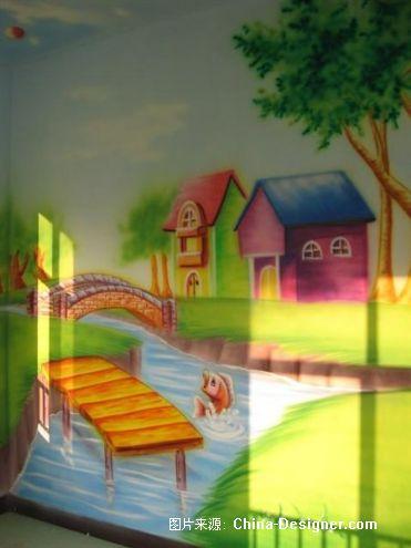 山东省胶南市幼儿园室内墙壁装饰卡通儿童画彩绘-射阳县兴桥镇大林