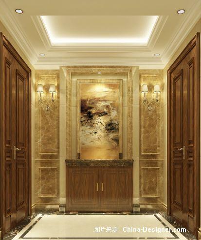3玄关及电梯厅效果图-莱依的设计师家园-新古典