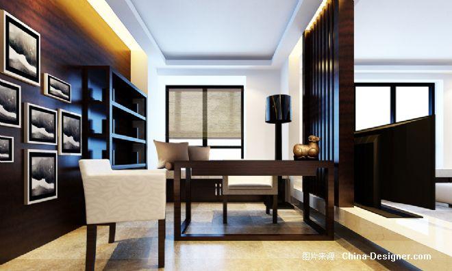 中式书房-赵庭辉室内设计的设计师家园-书房,中式图片