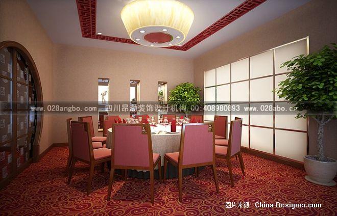 《中餐厅装修——包间》-设计师:成都火锅店装修设计