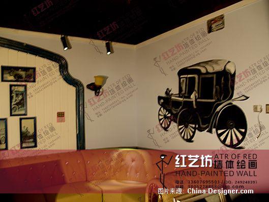 郑州红艺坊墙体彩绘--阿凡达ktv--老爷车-杨一凡的设计师家园-郑州