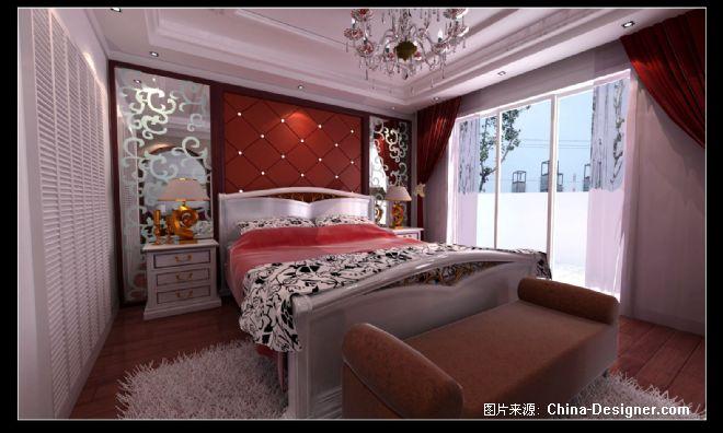 主卧床头背景效果1-王红坚的设计师家园-欧式图片