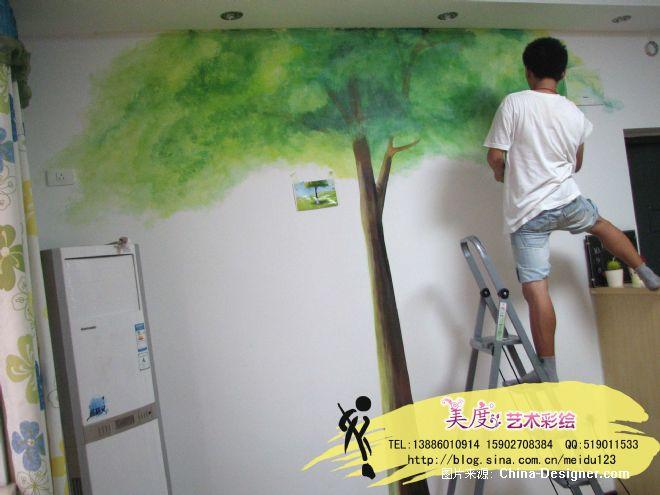 手绘墙 壁画 彩绘-武汉美度艺术彩绘的设计师家园-壁画,手绘墙,客厅