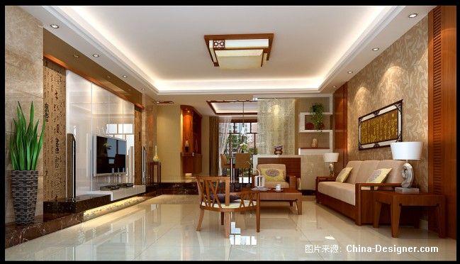 汕头柏嘉半岛客厅-冯世煌的设计师家园-20-30万,四居,客厅,棕色,中式