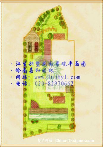 别墅庭院设计平面图2_1-岭南嘉和园林建设有限公司的设计师家园-广州