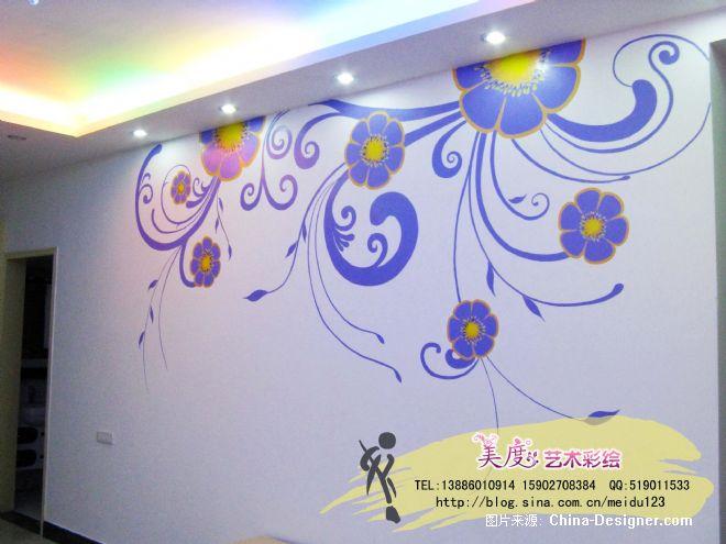 手绘墙 壁画 彩绘-武汉美度艺术彩绘的设计师家园-壁画,手绘墙,花藤