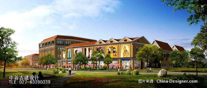 欧式风情街透视图-武汉方澳建筑设计咨询有限公司的设计师家园-园林