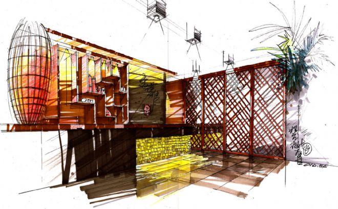 吧台设计方案-杨飞的设计师家园-新中式,主题花园,主题会所