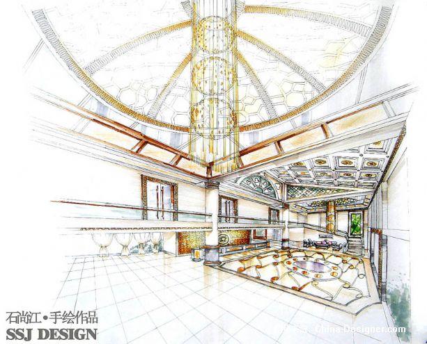 酒店大堂3a-石尚江的设计师家园-奢华,新古典,中式