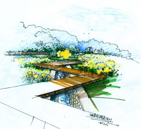 计师家园-田园,景观手绘图