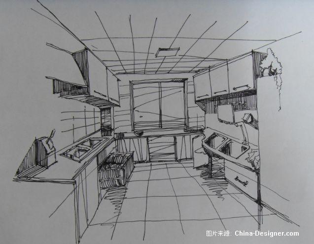 幼儿园厨房手绘图