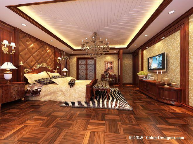 虹景程姐欧式别墅主卧室效果图-丁国清的设计师家园
