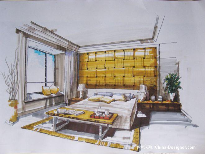 室内手绘-金旭的设计师家园-卧室
