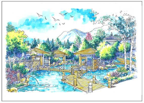 水上木屋效果图-陈南华的设计师家园-欧式