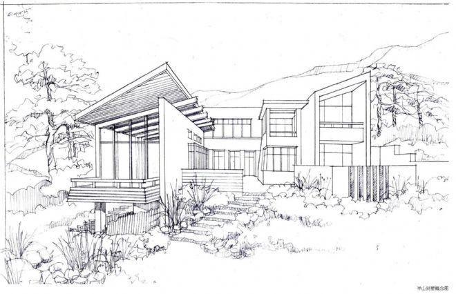 手绘家园背景图片