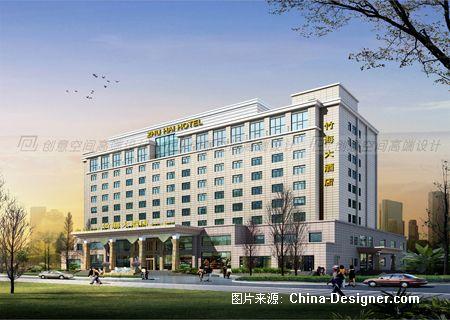 竹海大酒店白天外观效果图小-陈娟vip高端设计工作室的设计师家园