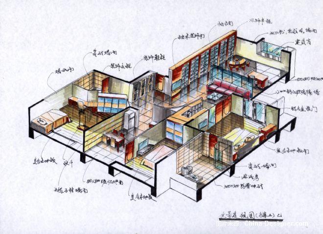 《全景透视》-设计师:瓦蓝室内设计工作室