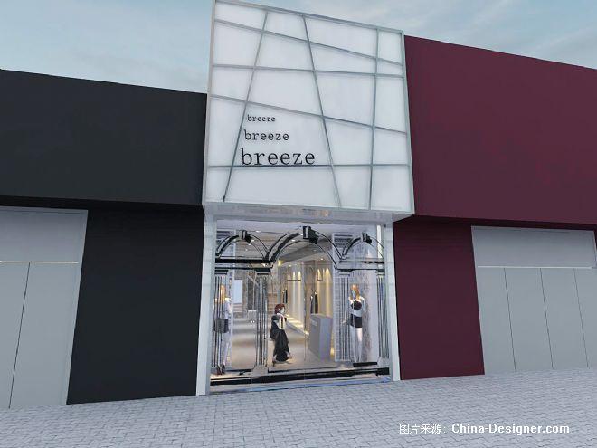 服装店外立面-陈立的设计师家园-现代