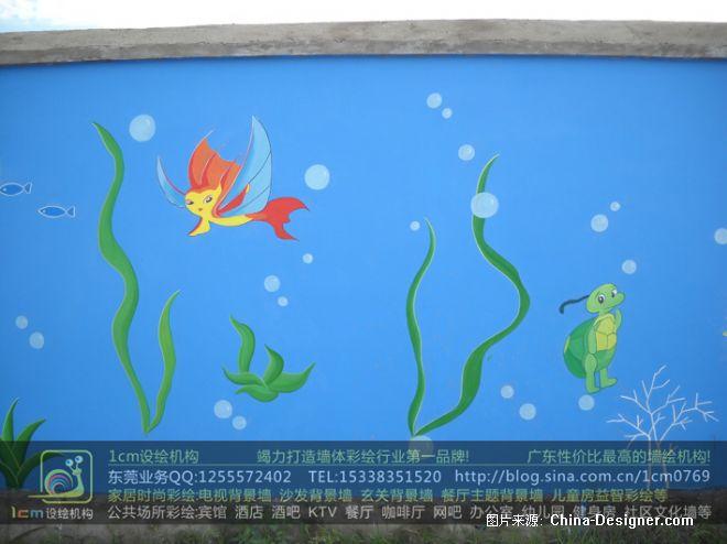 东莞幼儿园墙绘 海底世界-赵现伟的设计师家园-幼儿园墙绘,幼儿园彩绘
