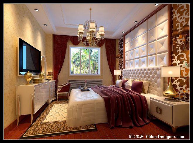 徐浩主卧床头背景-徐浩的设计师家园-欧式图片