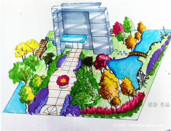 《别墅手绘效果图》-设计师:梁静