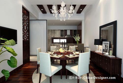一层西厨餐厅效果图-郭华的设计师家园-别墅