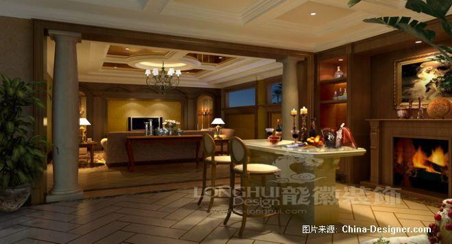 成都后花园别墅设计欧式风格餐厅; 成都会所设计_成都别墅设计_成都