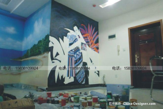 手绘墙施工现场-郑州印象墙体彩绘的设计师家园-奢华,沉稳,绚丽,酷家