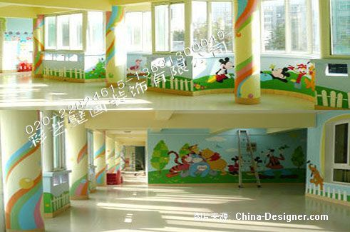 手绘墙画壁画室外内装饰广州市灵动力创公司的设计师家园