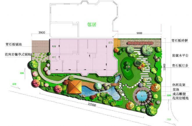武汉清风别墅私家庭园景观设计02 -武汉克洛伊园艺有限公司的设计师