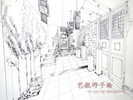 新中式手绘快题设计_新中式手绘快题设计分享展示