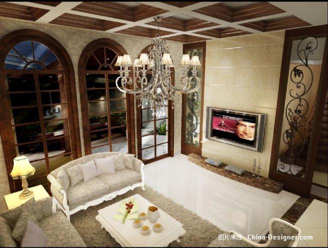 会客厅电视背景墙-陈烊的设计师家园-欧式