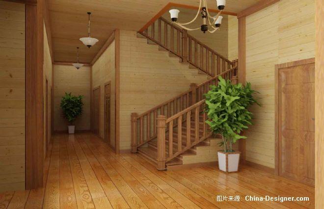 木结构别墅楼梯-刘鑫的设计师家园-木结构