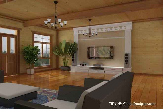 木结构大厅-刘鑫的设计师家园-木结构大厅