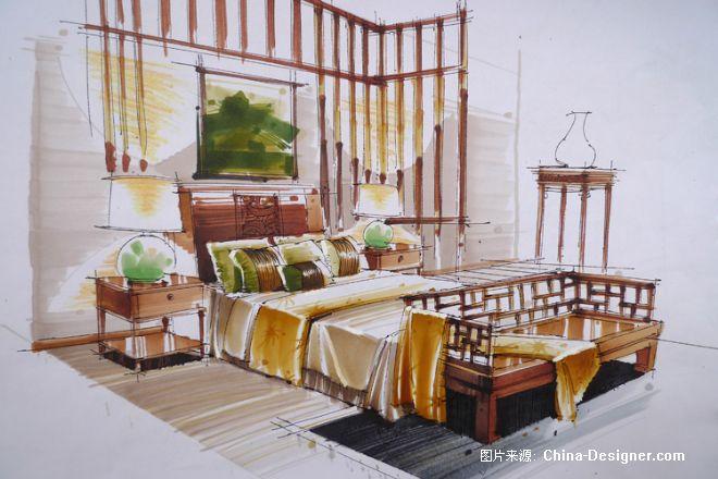 《室内手绘色彩图》-设计师:何文婷