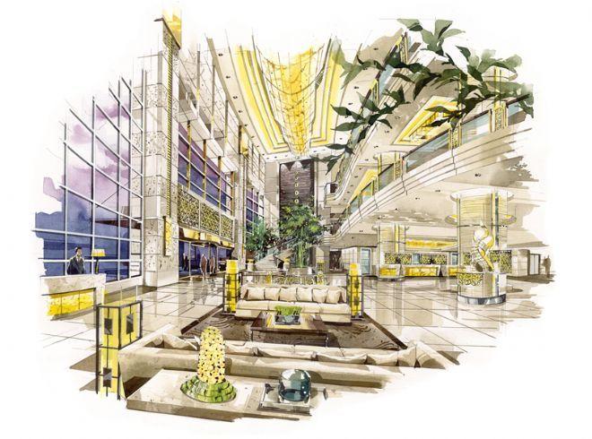 手绘效果图-木易设计顾问工作室的设计师家园-奢华,欧式