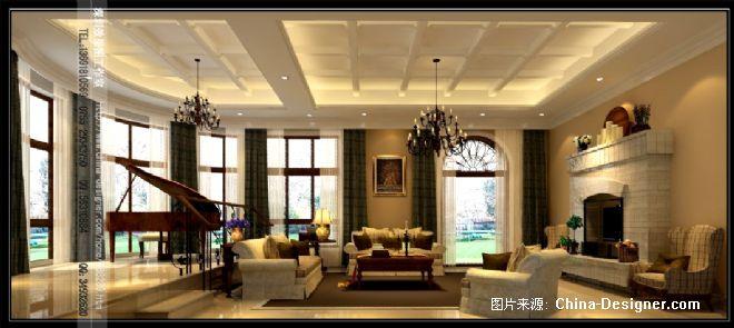 客厅-深圳效果图工作室的设计师家园-田园