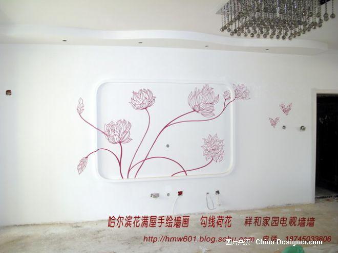 哈尔滨墙体手绘 花 设计师 哈尔滨花满屋手绘墙画工作室 设计师家园