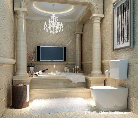 主卧厕所效果-汪宁宁的设计师家园-欧式