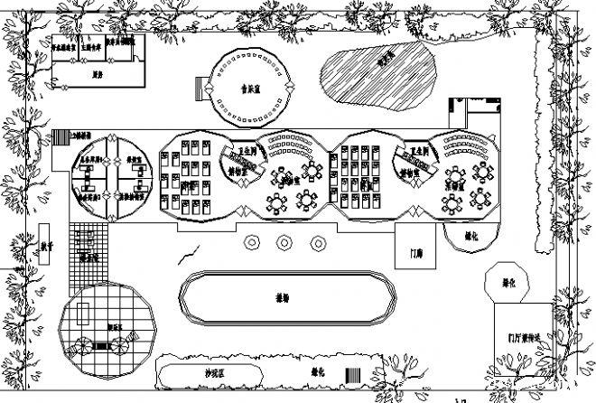 幼儿园平面图-黄柯澄的设计师家园-博雅