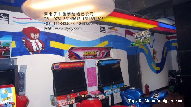 《手绘墙画电玩城游戏厅》-设计师:长沙墙绘公司-子非