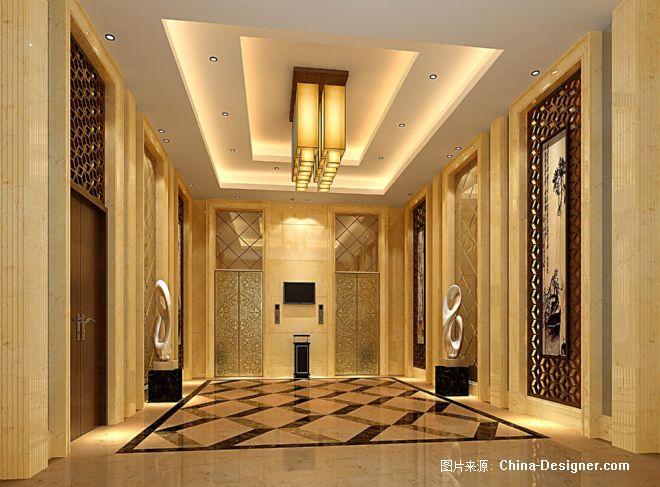 一层大堂电梯厅效果图-林慧全的设计师家园-200万以上