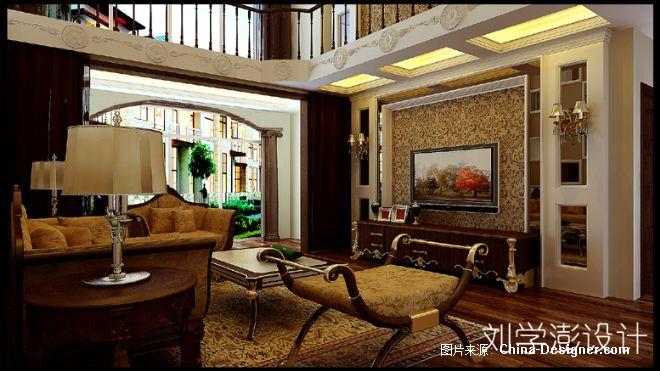 欧式新古典客厅电视墙-刘学澎的设计师家园-复式,客厅,新古典,欧式