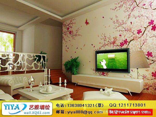 《手绘电视机背景墙a2》-设计师:幼儿园墙体彩绘-艺