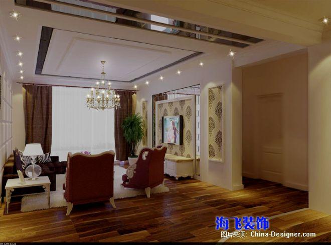 客厅电视墙及过道-张家口市海飞装饰公司的设计师家园-5-10万,二居